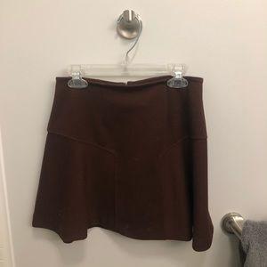maroon mini skirt